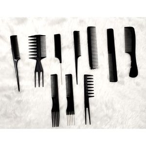 Hair styling combs kit ( Pack of 10 )